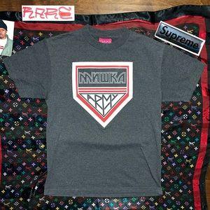 MISHKA NYC MNWKA ARMY Graphic Designer Tee Shirt